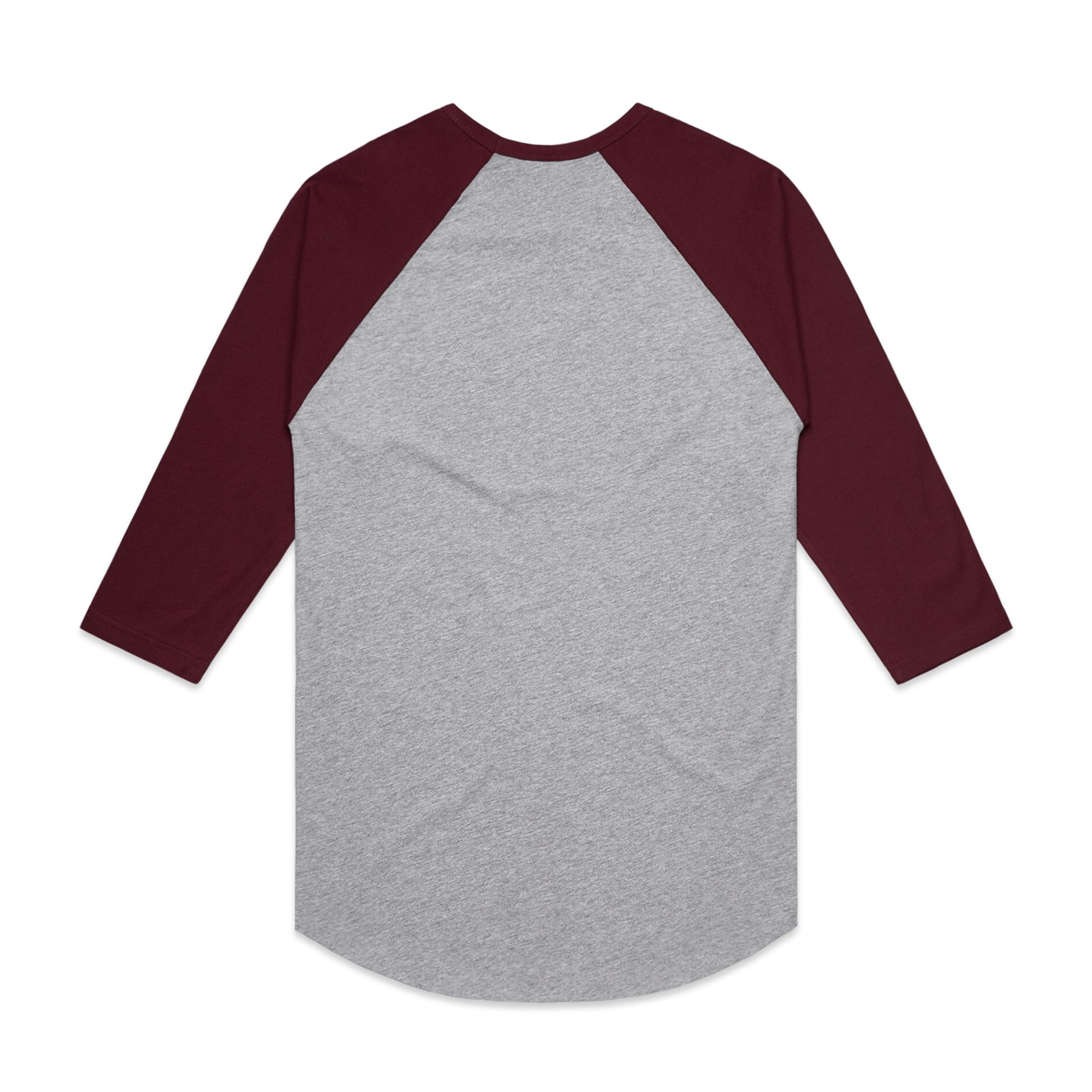 GREY MARLE/BURGUNDY - BACK