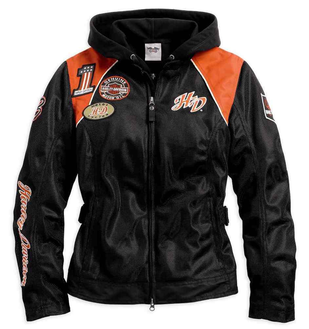 d5c9fbfe81a6de harley davidson+3-1 mesh riding jacket+removable hoodie