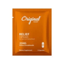 Single Serving CBD  Capsule| CBD Relief Capsule 25mg