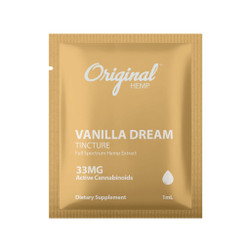 Single Serving CBD Oil | Vanilla Dream CBD Tincture