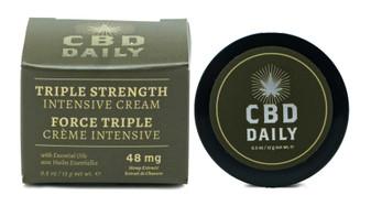 Triple Strength CBD Cream | 0.5 OZ Contains 54 MG CBD Lotion | CBD Daily