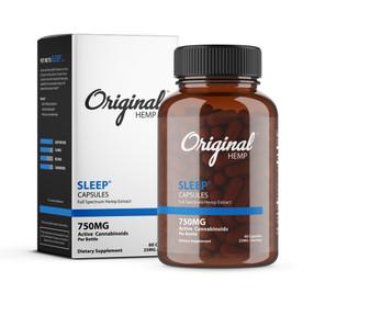 CBD Sleep Capsules | 750MG CBD Capsule | Original Hemp