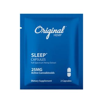 Single Serving Sleep CBD Capsules | CBD Sleep Capsules 25mg