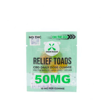 Green Roads Relief Toads 50mg CBD