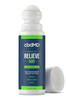 CBD Relieve Lidocaine Roll - On 2.5OZ - 500MG | North Central Texas Organics