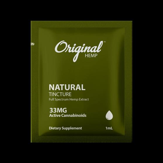 CBD Single Serving   Natural Tincture CBD 33mg