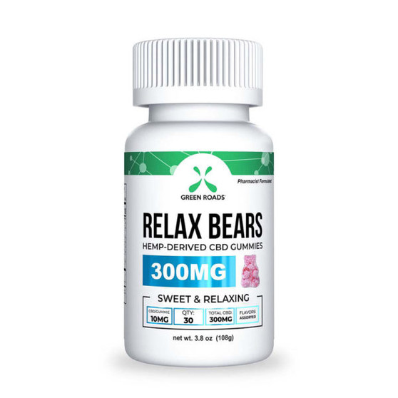 GreenRoads CBD Relax Bears 300mg