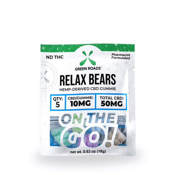 GreenRoads CBD Relax Gummy Bears OTG 50mg