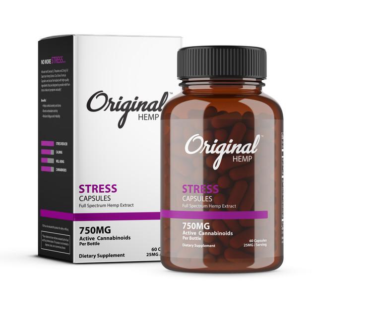 CBD Stress Capsules   Original Hemp Stress Capsules