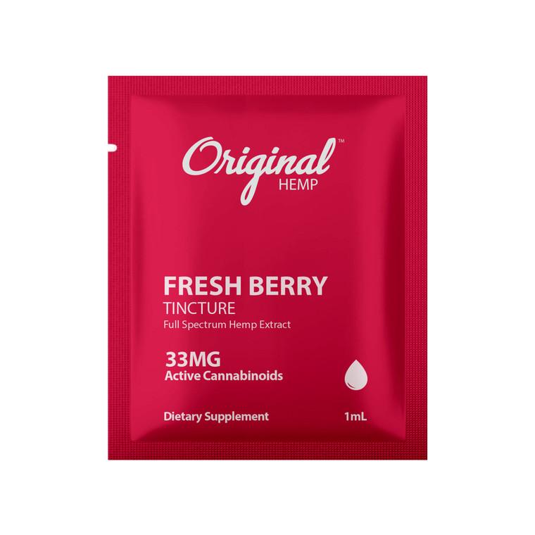 Single Serving CBD Tincture | Fresh Berry cbd Tincture 33mg
