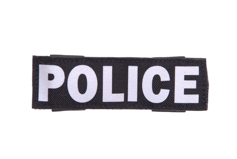 Horizontal Police Sign