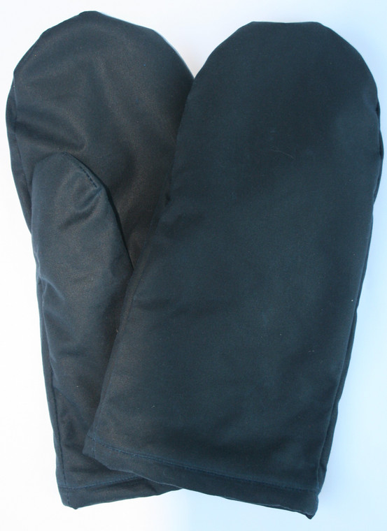 made of Oilskin outer and polar fleece  lined. Ideal for cold weather and rain. Handy when you leave your Bike etc to open a gate or just walking around. Come in three sizes, Small, large and XL.