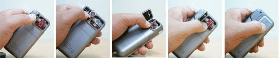 AlcoMate Premium Breath Alcohol Test PRISM Sensor Change Sequence