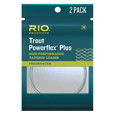 Rio Trout Powerflex Plus Tapered Leader 7.5' - 2pk