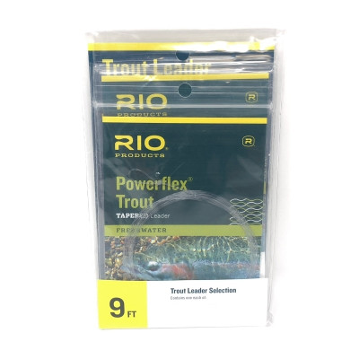Rio Powerflex Trout Tapered Leader - 3x, 4x, 5x