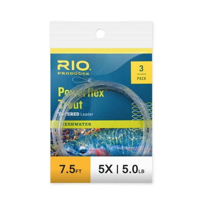 Rio Powerflex Trout Tapered Leader 7.5' - 3 Pk