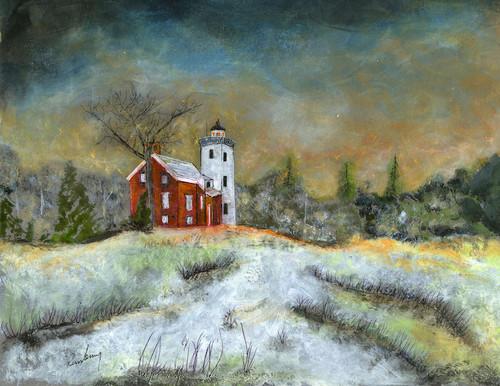 40 Mile Point Lighthouse Art Print