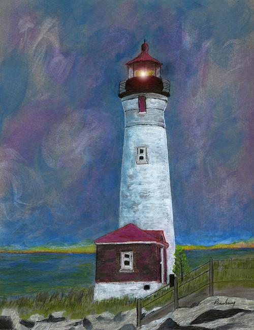Crisp Point Lighthouse Card