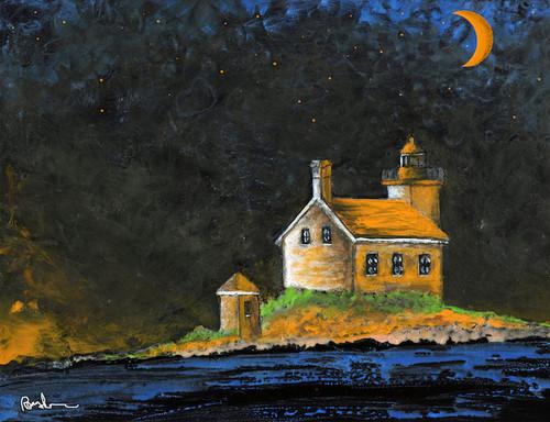 Gull Rock Lighthouse Art Print