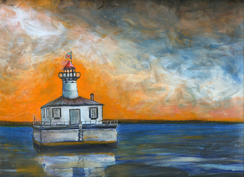 14 Foot Shoal Lighthouse Art Print