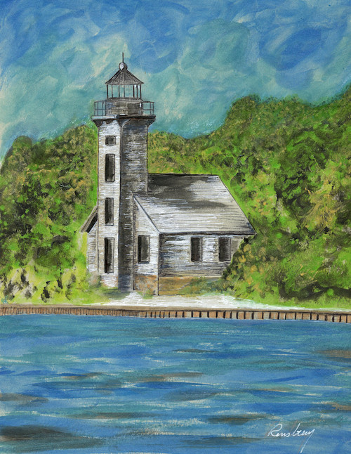 Grand Island East Channel Lighthouse Card