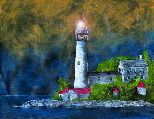 South Manitou Island Lighthouse Card