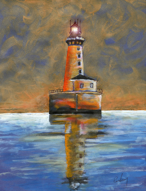 Stannard Rock Lighthouse Art Print