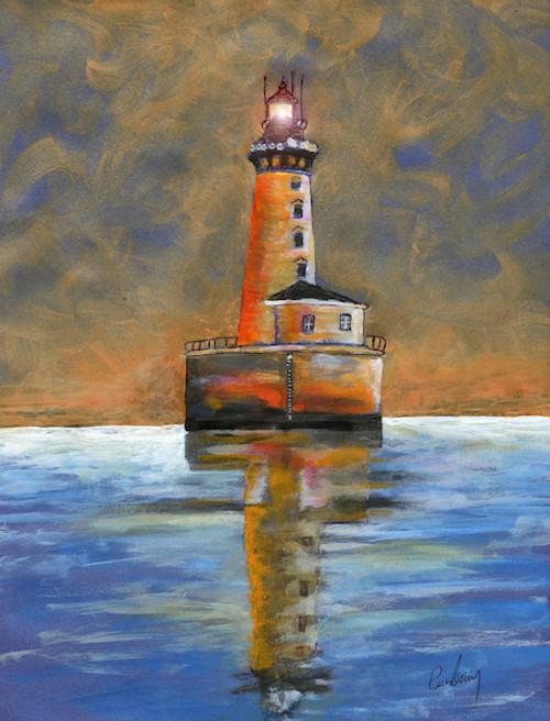Stannard Rock Lighthouse Art Print