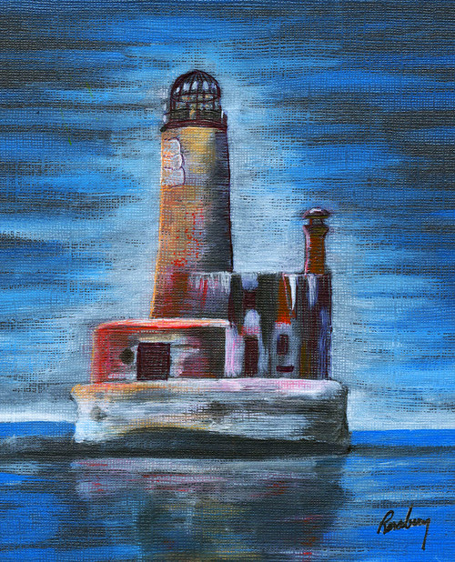 Old Wobbly Shanks Lighthouse Art Print