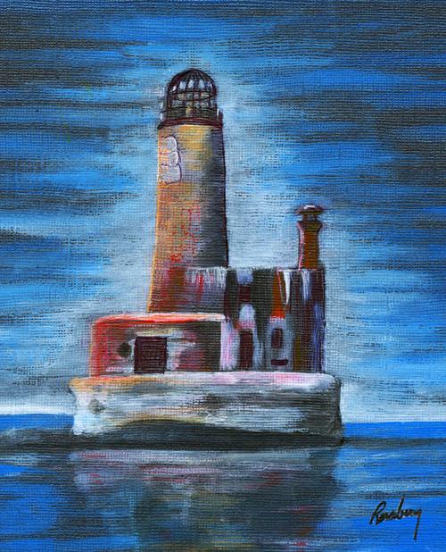 Old Wobbly Shanks Lighthouse Art Print