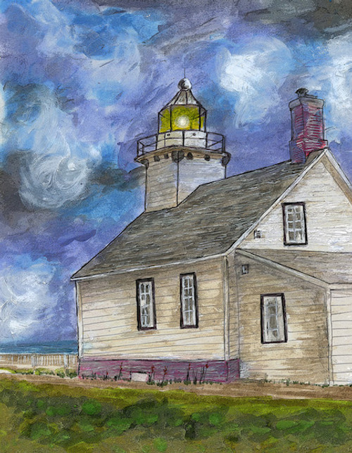 Mission Point Lighthouse Art Print