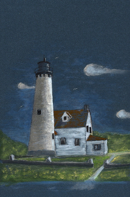 Point Iroquois Lighthouse Card
