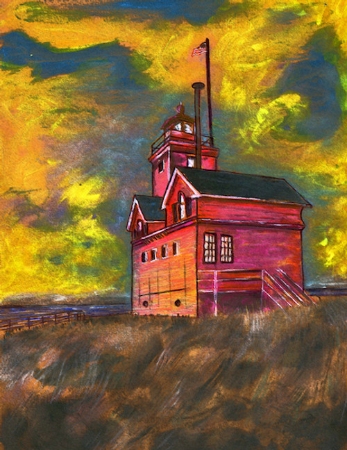 Holland Harbor Lighthouse Art Print