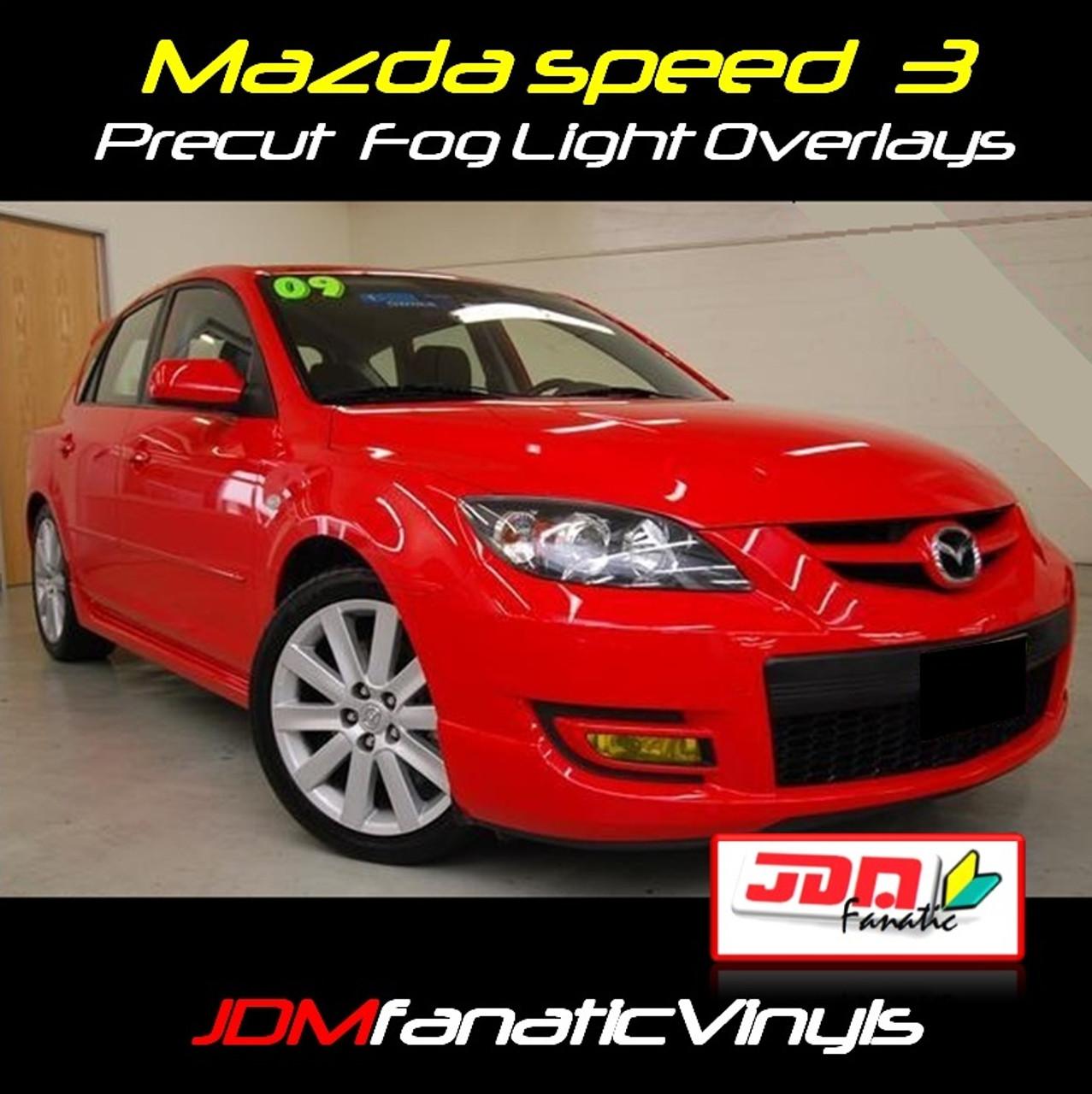 Yellow Foglight Overlays For 2007-2009 MAZDA 3 /& MAZDASPEED 3