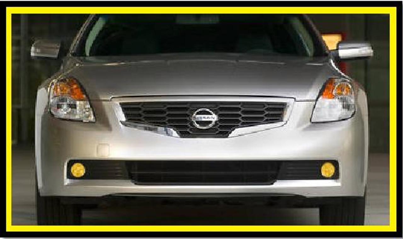 07 11 Nissan Altima Coupe Precut Yellow Fog Light Overlays Tint