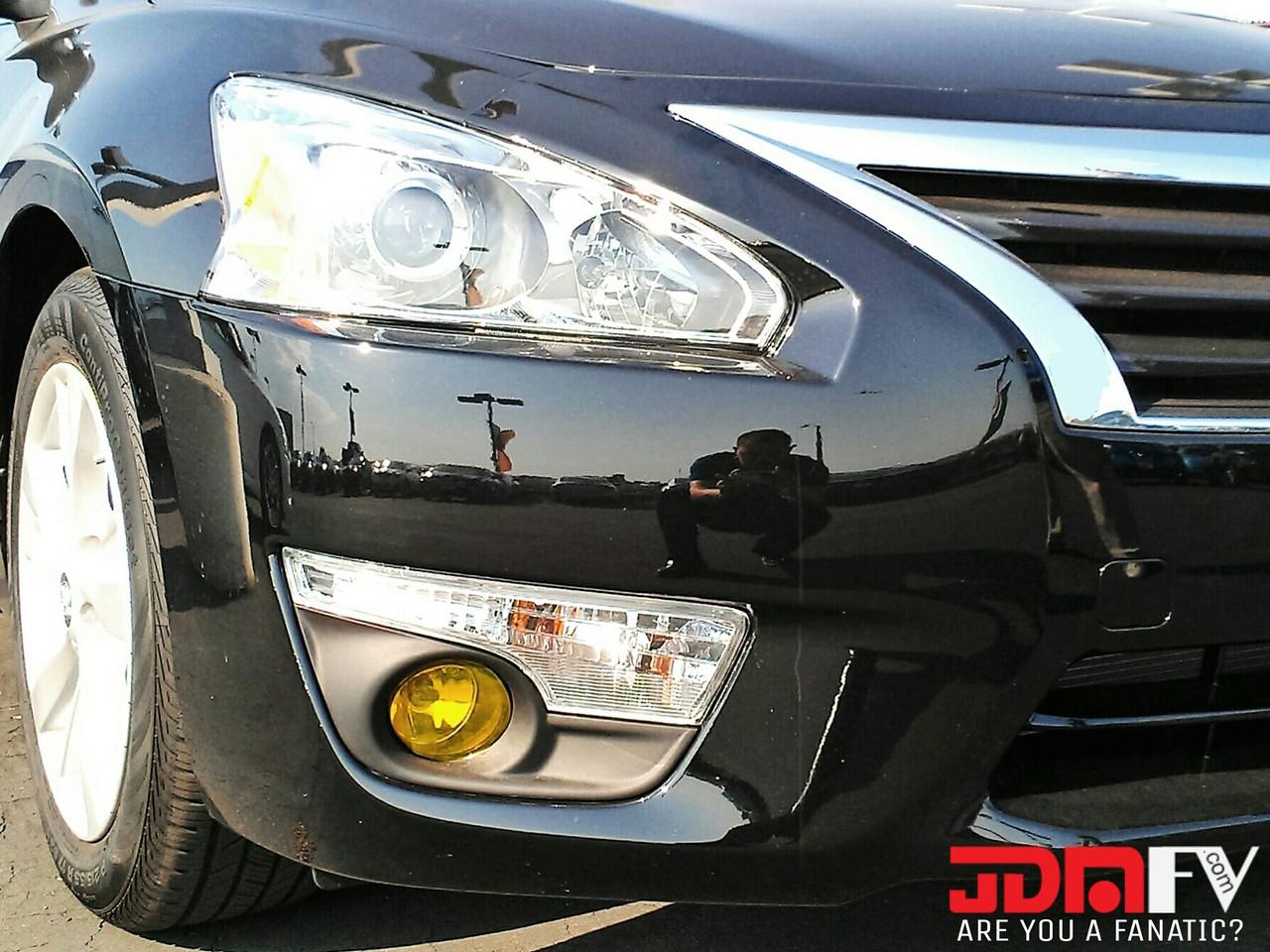 2013 Nissan Altima Sedan Precut Yellow Fog Light Overlays Tint