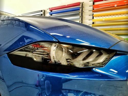 Blackout - Head light Amber Delete Overlays (18-20 Mustang)