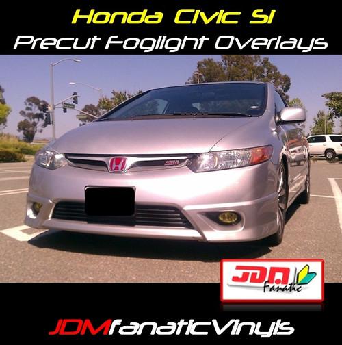 06-08 Honda Civic Precut Yellow Fog Light Overlays Tint Kit