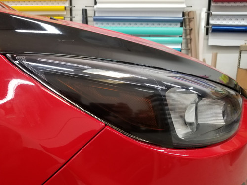 SMOKED Amber Delete Head Light Overlays Tint (15-18 Focus RS/ST)