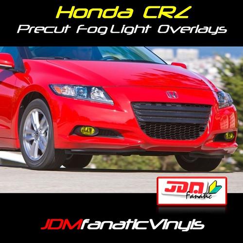 11-12 Honda CRZ Precut Yellow Fog Light Overlays Tint