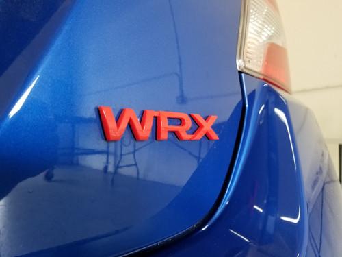 Red WRX Emblem Lettering (2015-2020 WRX)