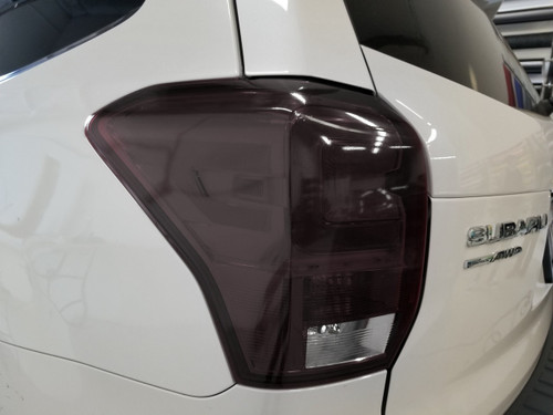 Smoked Tail Light Overlays with Reverse Cutout (17-18 Forester)