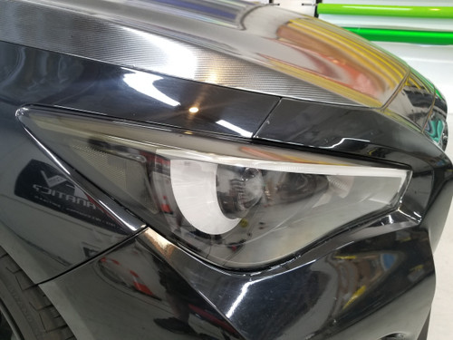 SMOKED Amber Delete Head light Overlays (14-18 Q50)