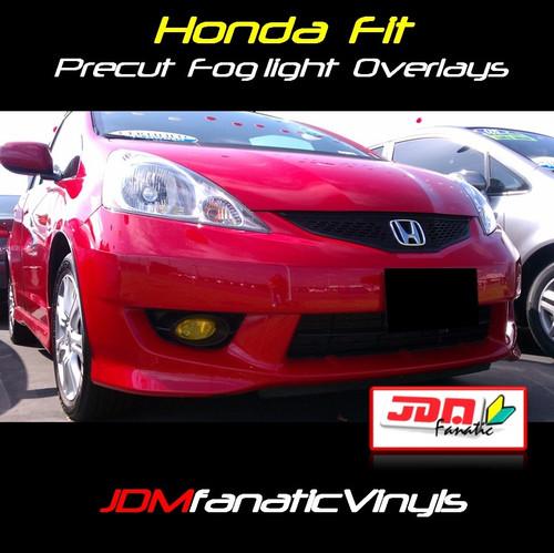 09-12 Honda Fit/Jazz Precut Yellow Fog Light Overlays Tint