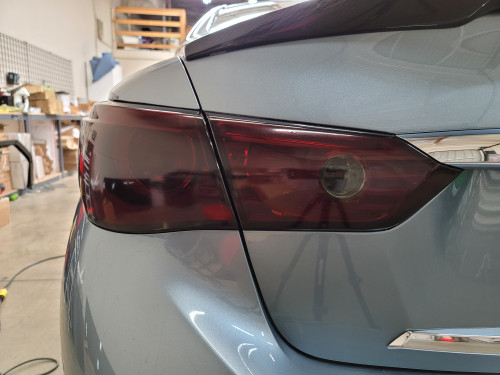 Smoked Tail Light Overlays with Reverse Cutout (2014-2017 Q50)