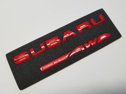 Red SYMMETRICAL AWD - Trunk Emblem Lettering