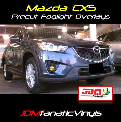 2013 Mazda CX5 Precut Yellow Fog Light Overlays Tint Covers Kit