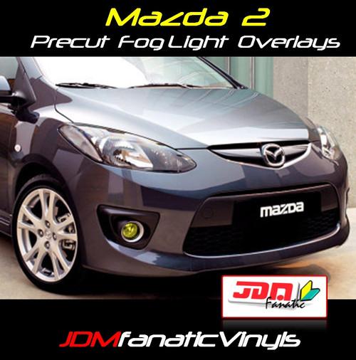 11-13 Mazda 2 Precut Yellow Fog Light Overlays Tint Covers Kit