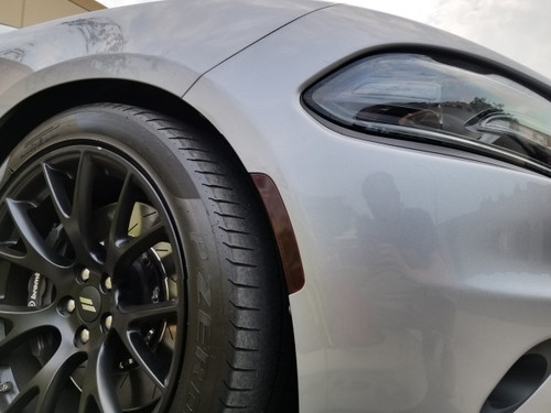 Smoked Front Side Reflector Overlays Tint (15-18 Charger)