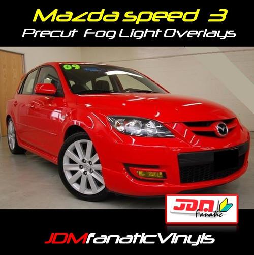 07-09 Mazdaspeed 3 Precut Yellow Fog Light Overlays Tint Covers Kit